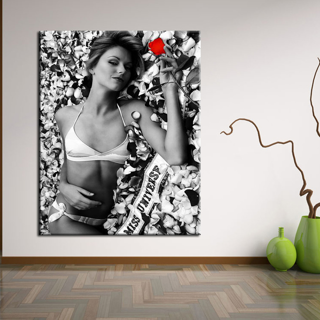 0092099f3 Hot sexy open photos b f wallpaper Wall art painting Poster The beautiful  girl Body photograph Wholesale and retail
