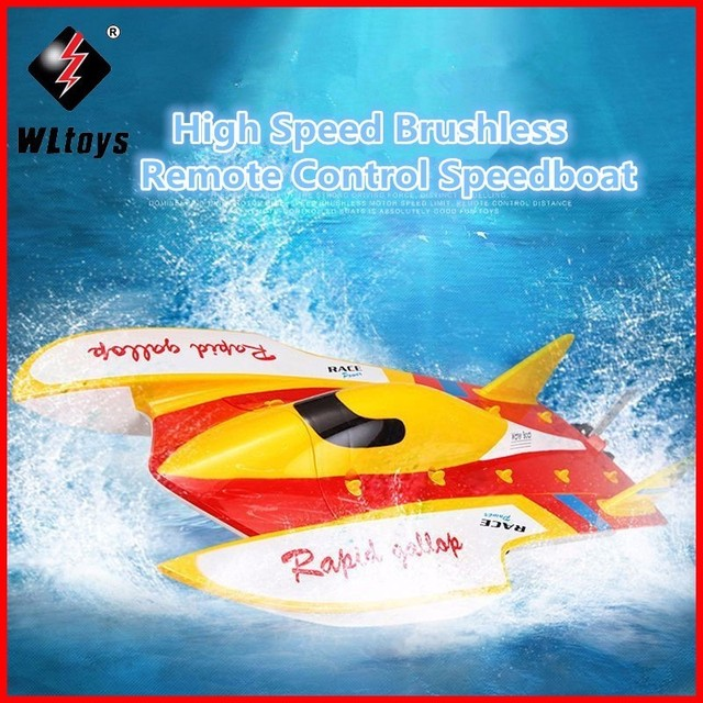 Original WLtoys WL913 2.4G Remote Control Brushless Motor Water-Cooling System High Speed 50km/h RC Racing boat VS FT009