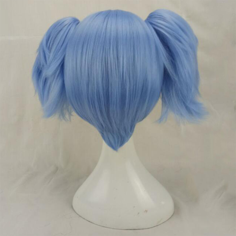 HAIRJOY Synthetic Hair Red Pink Blue Cosplay Wigs Costume Wig with 2 Removeabe Ponytails 3 Colors Available 2