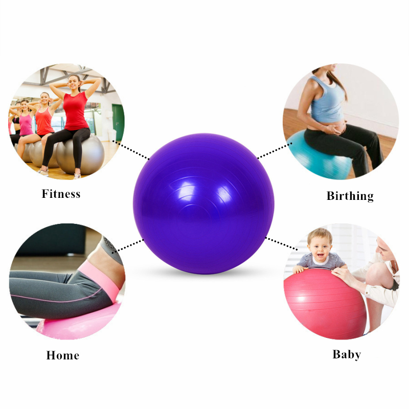 Anti-slip Exercise Balls with Pump Suitable for Yoga/Gym/Workout/Pilates 4