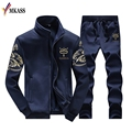 2017 New Style Spring Autumn Men's Korean Fashion Boutique Hoodie Men's Leisure Innovative Coat+Pants