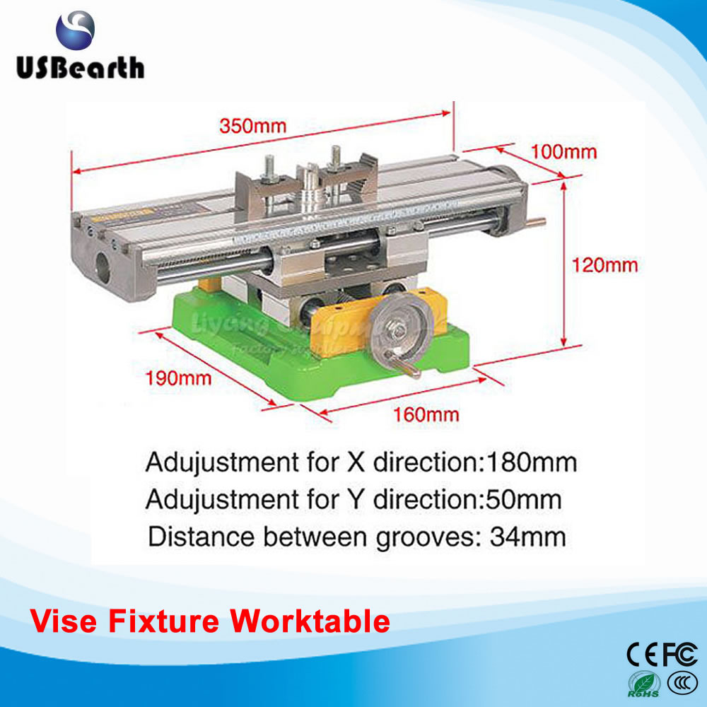 Miniature precision LY6350 multifunction Milling Machine Bench drill Vise Fixture worktable X Y-axis adjustment Coordinate table no tax to russia miniature precision bench drill tapping tooth machine er11 cnc machinery