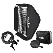 "Godox 50*50 cm/40*40 cm S Typ Halterung Flash Honeycomb Grid Softbox Bowens Berg Speedlite adapter 16 ""/20"" Soft Box Kit"