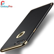 CinkeyPro 3 in 1 Luxury For Apple iPhone 7 Case Plus High Quality Plating Thin Back Cover Mobile Phone Bag Accessories