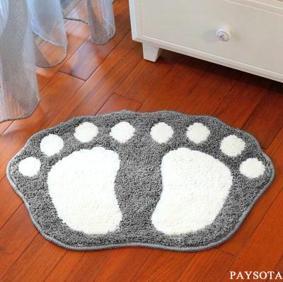 Paysota Big Foot Carpet Schlafzimmer Toilette Boden Teppich Grau