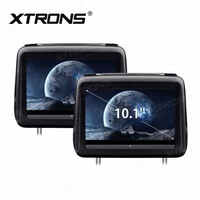 XTRONS car Monitors 10.1 HD Digital Screen Touch Screen Leather Cover Car Headrest DVD Player with HDMI FM IR USB Speaker