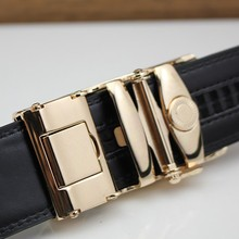 Automatic Buckle Leather Belt For Men