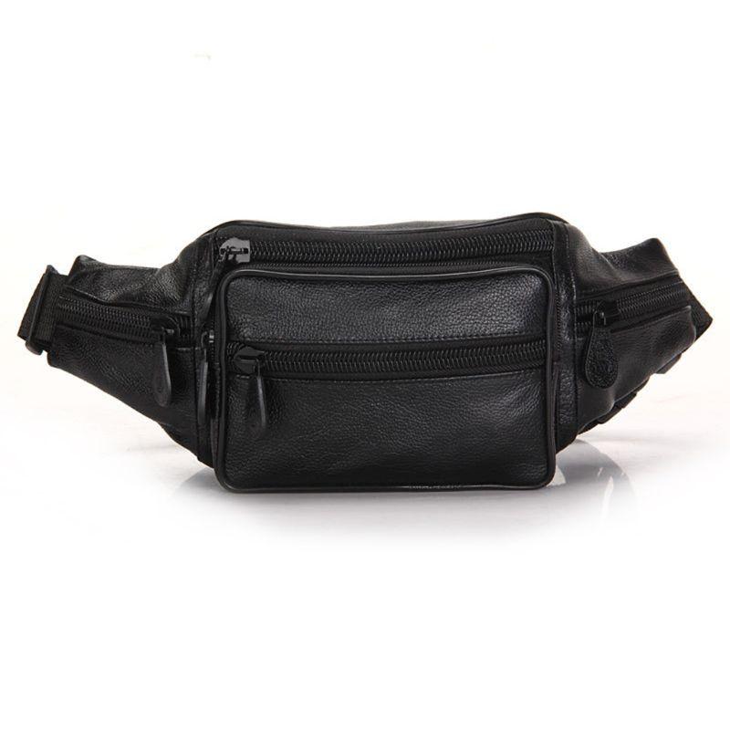 Men PU Belt Bum Hip Waist Phone Pouch Fanny Pack Crossbody Shoulder Chest Bag