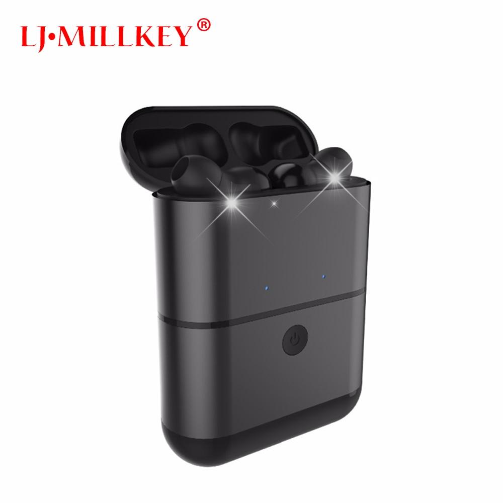 Newest Twins True Wireless Earbuds Mini Bluetooth In-Ear Stereo TWS Wireless Earphones With Charging Case LJ-MILLKEY YZ130