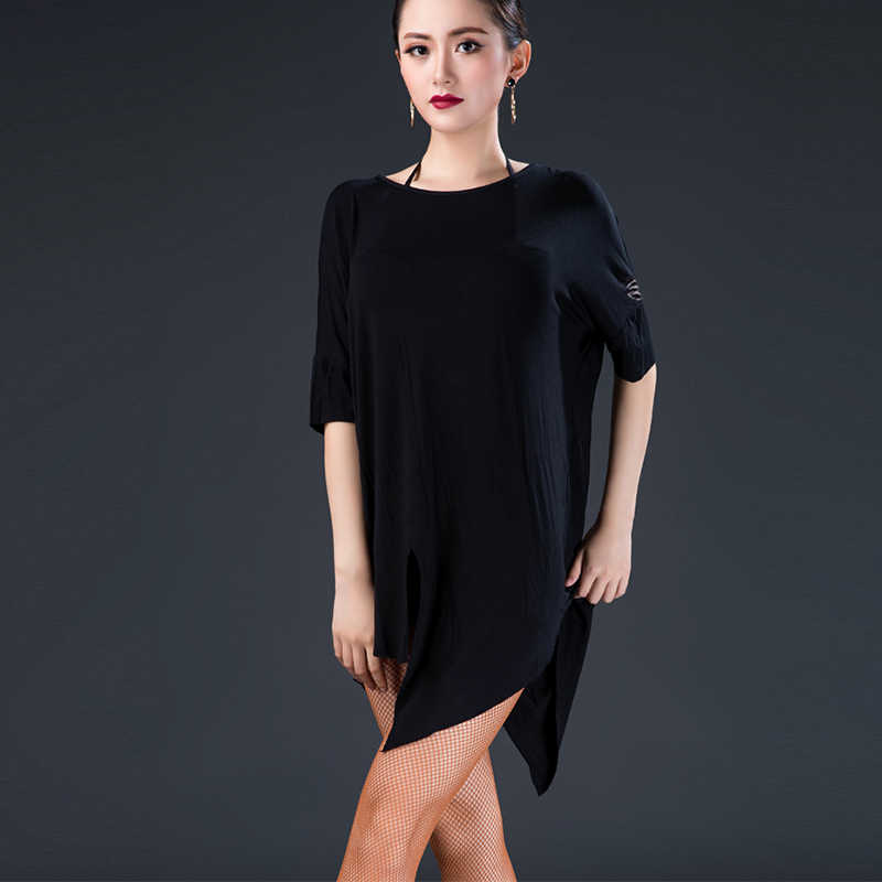 d9d6afebd ... 6 Colors Latin Dance Tops Female Adult New Practice Clothes Training Dance  Clothing Ballroom Cha Cha ...