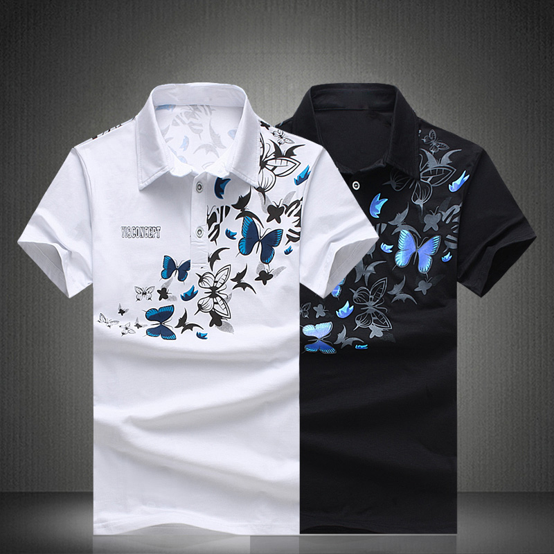 Casual Chinese Style Design Plus Size M-5XL Polo Shirt Men Print