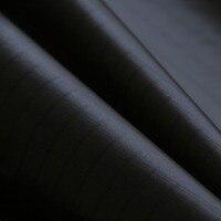 Colore nero pc20 leggero icarex ripstop tessuto di nylon 1.45 m w * 5 m aquilone tessuto rivestito uv tenda che fanno panno tessuto