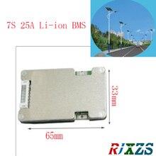7 s 25A LiPo литий-полимерный БМС/PCM/Защита печатной платы батареи доска с баланс 7 пакетов 18650 литий-ионная батарея