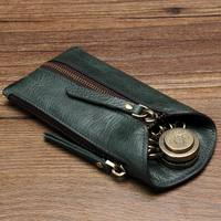 New Brand Genuine Leather Key Case Car Key Wallet Luxury Gift For Men & Women Housekeeper Holders Key Bag Case
