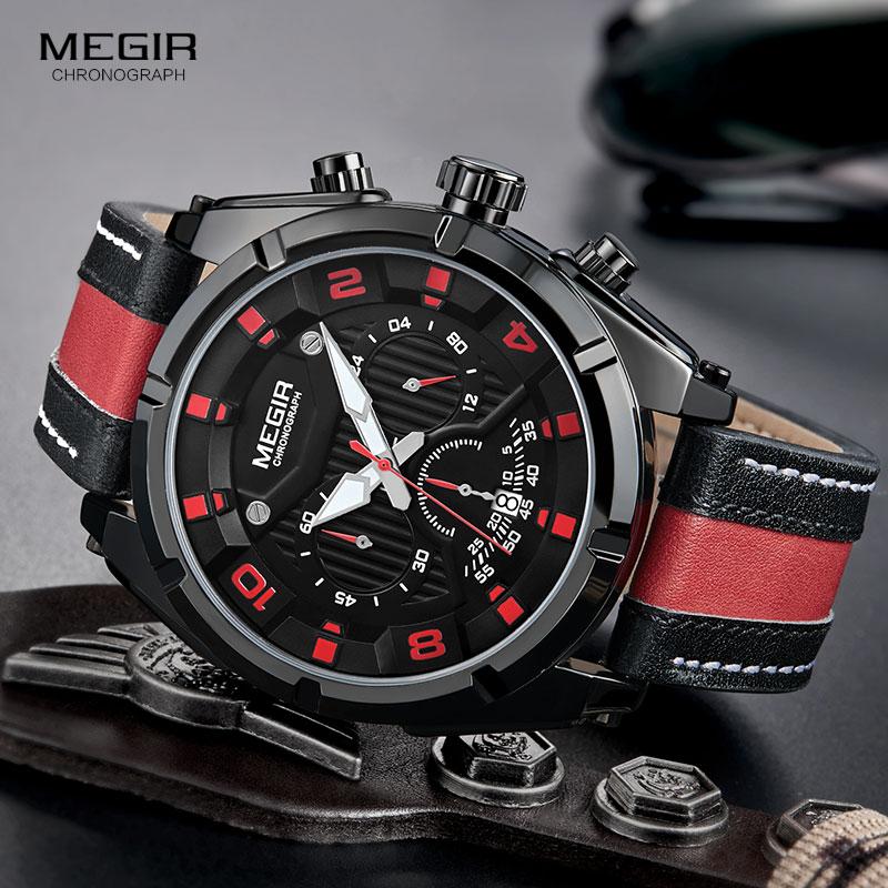 Reloj de pulsera de hombre Megir Relojes Hombre Reloj de pulsera de - Relojes para hombres - foto 4