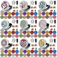 2019 New Tree of Life Aromatherapy Car Diffuser Stainless Steel Car Air Freshener Perfume Essential Oil Diffuser Locket Jewelry new 12 constellations stainless steel car air freshener diffuser perfume locket pendant necklace zodiac jewelry dropshipping