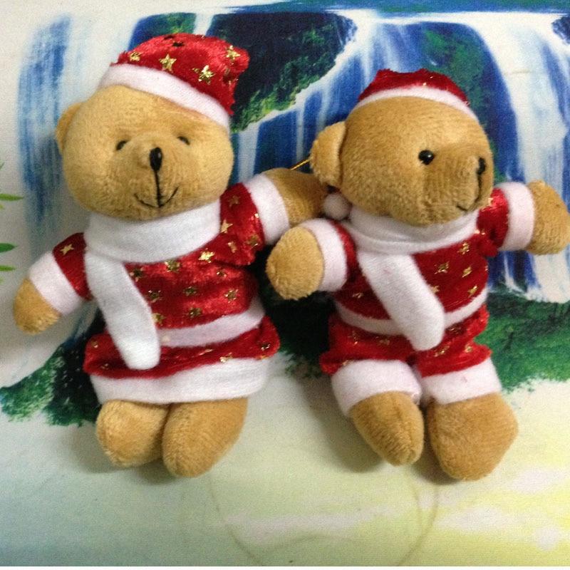 2PC Lilo Stitch Plush Toy Hanging Key Chain Hanger Doll Mini Pendant Xmas Gift