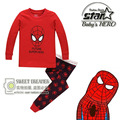 2-7 años Niños y Niñas Pijamas de Spiderman Niños Del Algodón Pijamas ropa de Noche Del Bebé Niños Del Pijama Fijó Hombre Araña Niño Ropa de niño Conjunto