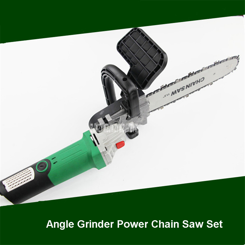 110V/220V 950W Professional Electric Chain Saw Handheld Angle Grinder Chain Saw Set Household Multi function Wood Logging Saw