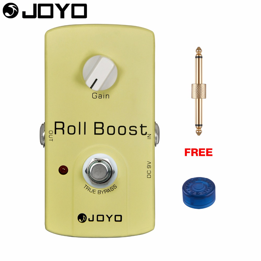 JOYO Roll Boost Electric Guitar Effect Pedal Gain Control True Bypass JF-38 with Free Connector and Footswitch Topper mooer ensemble queen bass chorus effect pedal mini guitar effects true bypass with free connector and footswitch topper