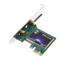 PCI-E Двойной Частоты 2.4 Г/5 Г 300 Мбит 300 М 802.11b/g/n Сети Беспроводной Wi-Fi сеть Карта, Совместимая Слот PCI-E X1/X4/X8/X16