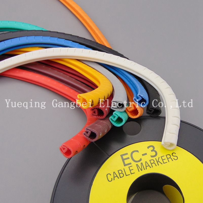 All sorts of color number tube EC 3 6mm Cable Wire Markers Letter ...