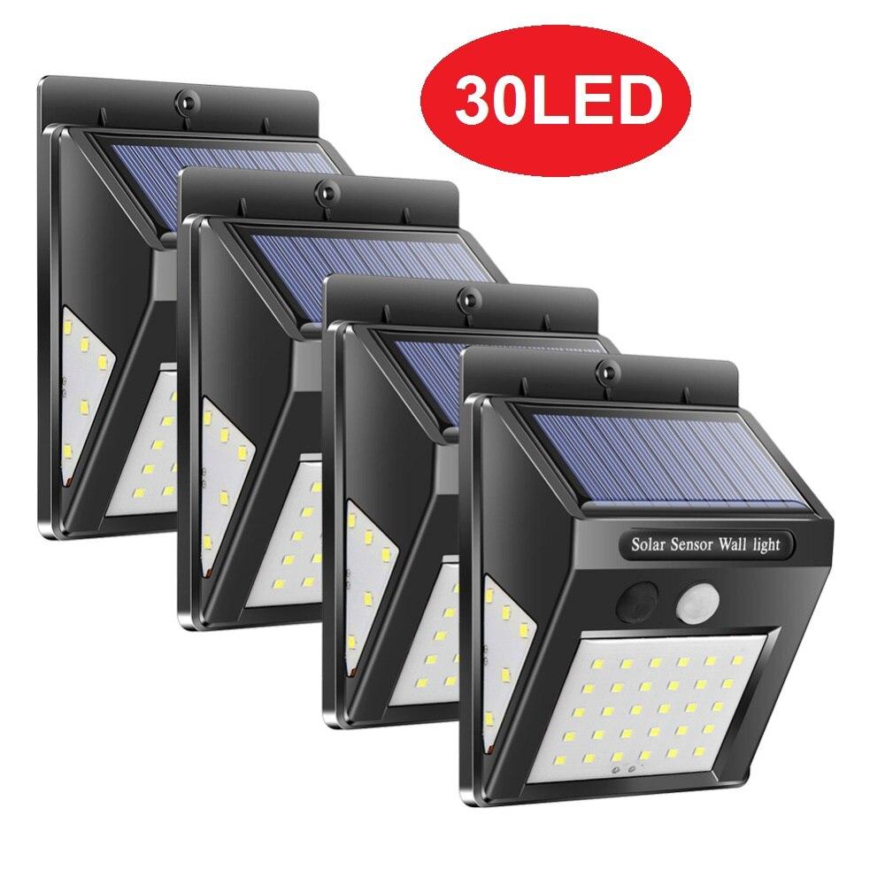 1-4Pcs 30/40 LEDs Solar Light PIR Motion Sensor Solar Garden Light Outdoor Energy Saving Street Yard Path Home Lamp Dropshipping