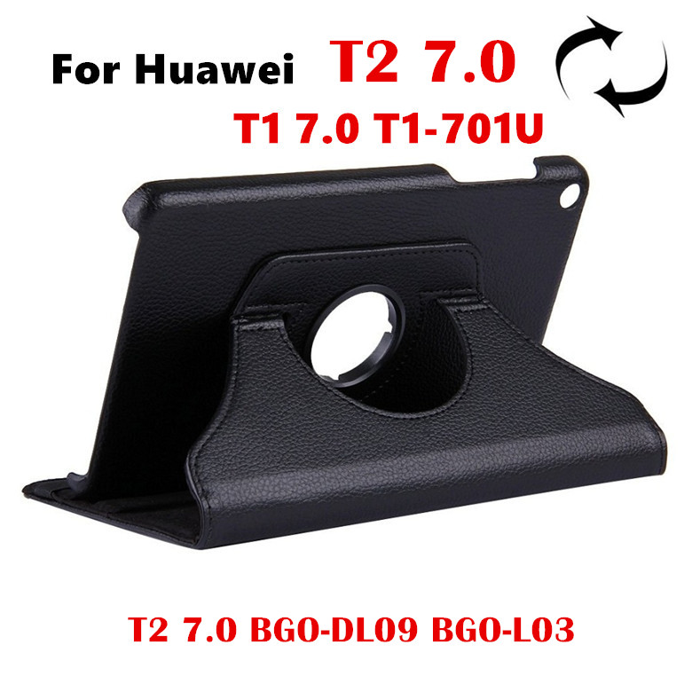 For Huawei T2 7.0 BGO-DL09 BGO-L03 360 Rotating Flip Cover For Huawei Mediapad T1 701U Tablet Case T1 7.0 T1-701Ua Leather Case