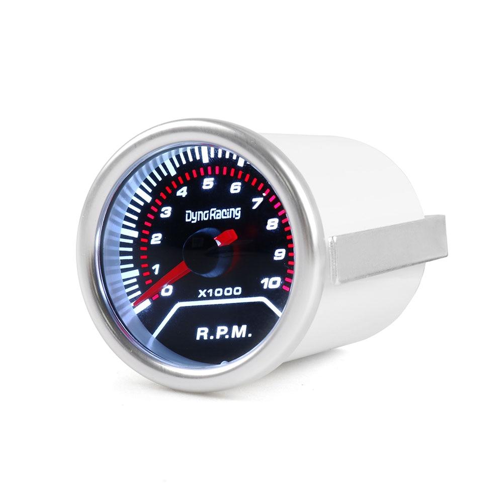 """Dynoracing тахометр """" 52mm Дым объектива 0-10000 тахометре супер яркий светодиодное освещение автомобиль метр BX101224"""