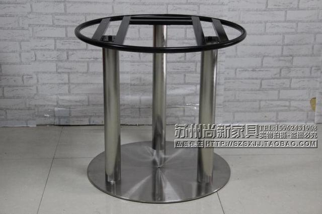 Cheap Custom Stainless Steel Microwave Oven Large Round Table Tripod Legs  Marble Dining Table Legs Table