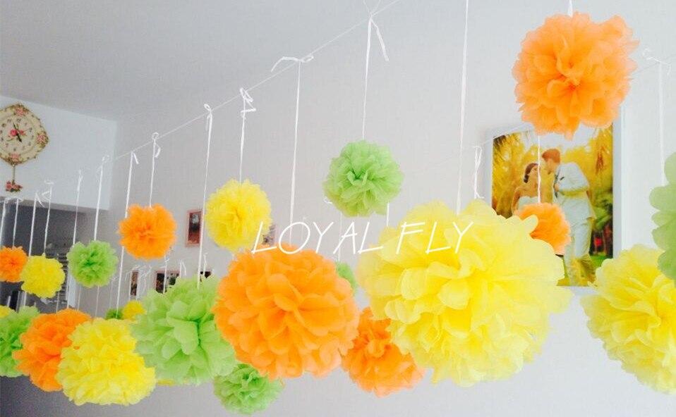 "50pcs/lot 14""(35CM)Pom Poms Ball-Spring Pink Tissue Paper Pom Poms Flower Available-Weddings- Birthday-Decorations-Baby Shower"