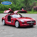 Original Box Large Scale Simulation Alloy Car Children's toy car Maisto alloy models 1:24 Benz SLS AMG roadster genuine