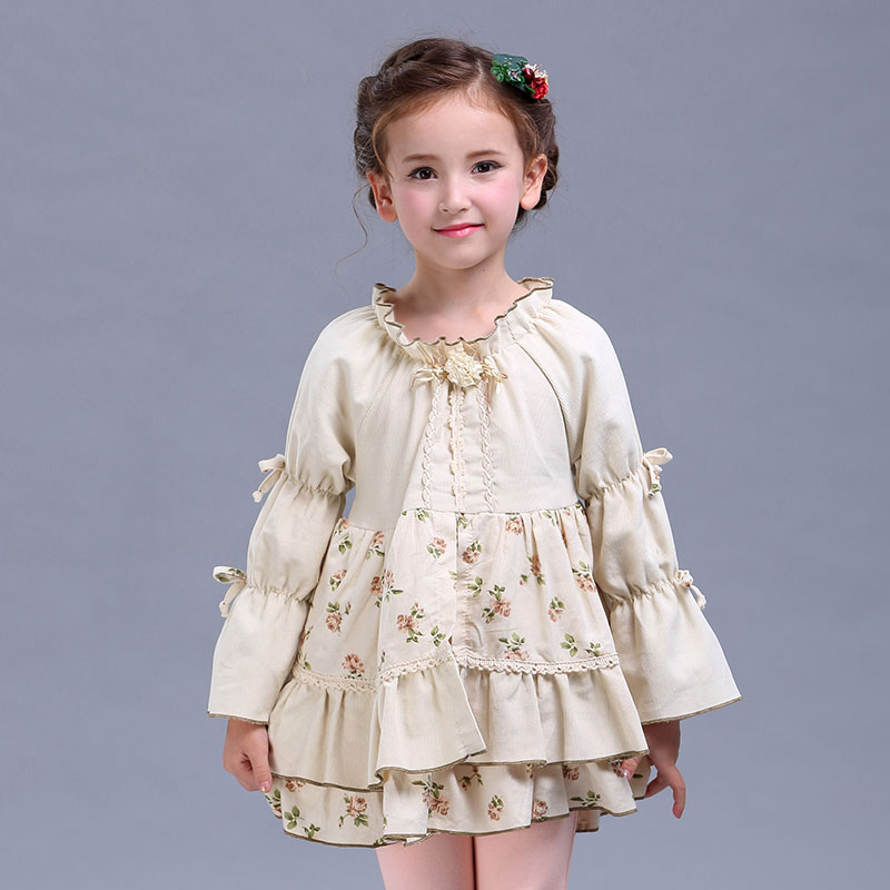 Original design baby girl dresses 2017 spring autumn cotton kid long sleeves princess dress Clothes for girls 4 6 8 10 years old цена и фото