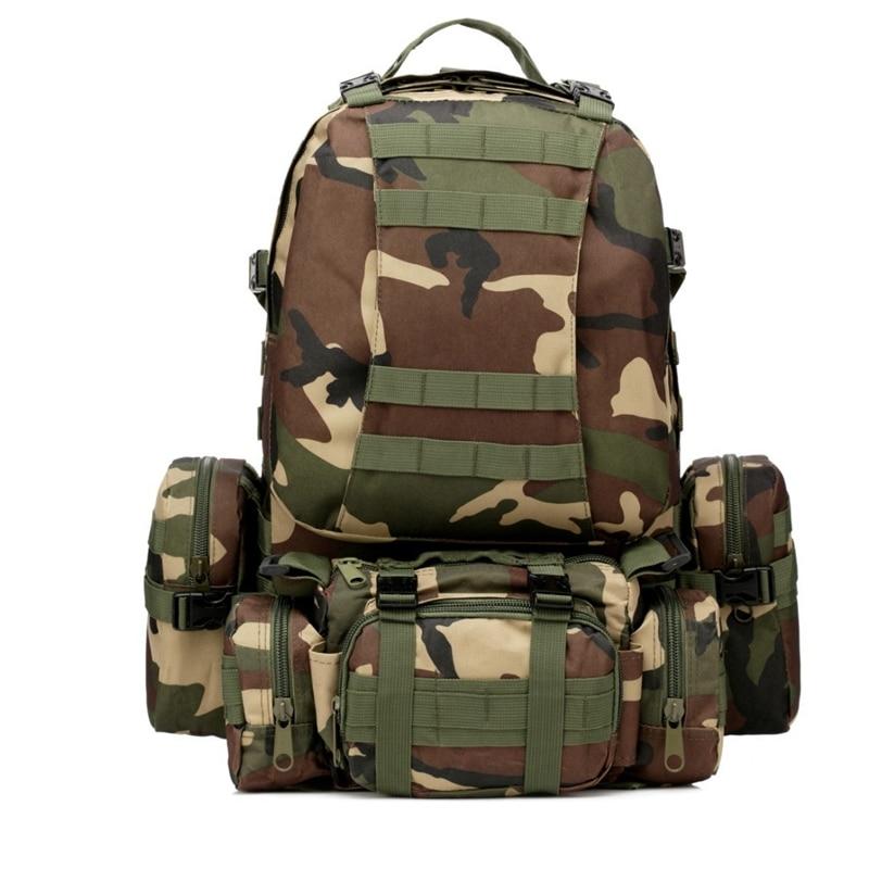 50L Molle sac à dos tactique étanche 600D assaut voyage en plein air randonnée Sport militaire sacs à dos sacs à dos chasse armée sac