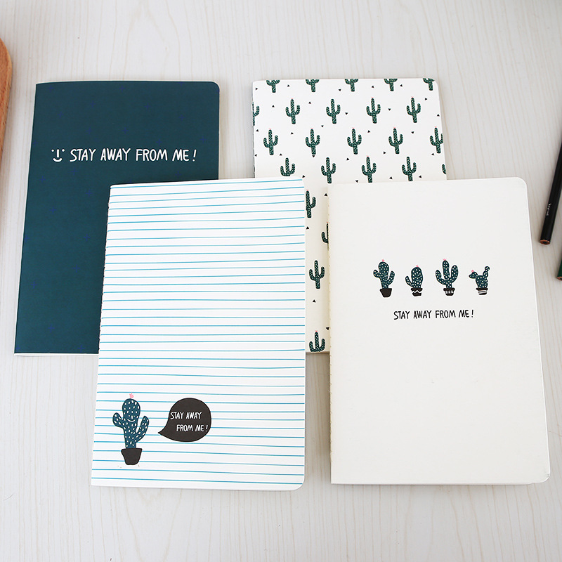 Fashion Book Cover Ideas : Fashion cute cuctus cacti cover notebook a notepad