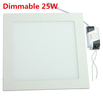 Dimmable 25W Square Ultrathin Ceiling Energy-Saving LED Panel Light DHL Free shipping