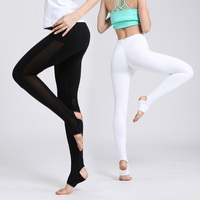 2018 Femmes de Yoga Pantalons Sport Leggings Femmes Hight Taille Maille Sexy Fitness Top Qualité Yoga Pantalon Haute Élastique Fitness Sport pantalon