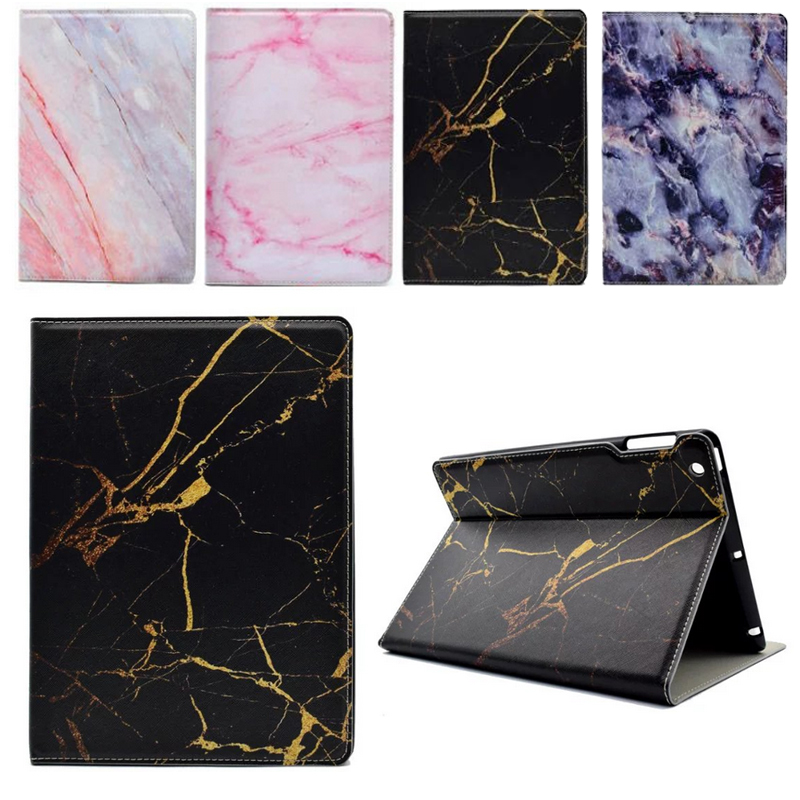 New Slim For iPad Air 1 2 Case Marble PU Bracket Stand Funda Cover For Apple iPad 2 3 4 Air 1 2 Flip Protective Tablet Coque  for apple ipad mini 4 case flip grape patterns pu leather protective cover rotate tablet pc stand shock resistant coque para