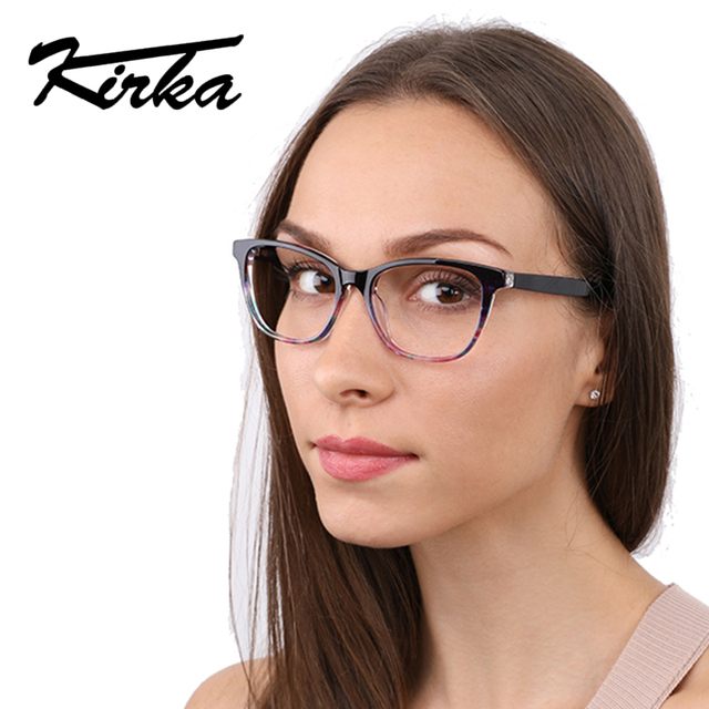 011b895fa8 Kirka Women s Optical Retro Eye Glasses Frame Spectacle Frame Fashion  Eyeglasses Vintage with Clear Lens Oculos Reading Glasses