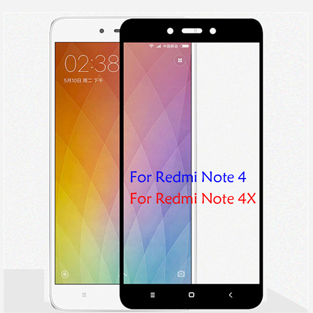 32gb Note 4x Cover Screen Protector Tempered Glass For Xiaomi Redmi Note 4 Global Version Colorful Protective Film Redmi Note 4X