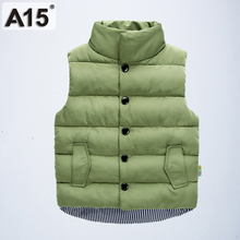 Kids Vest Boys Winter 2018 Cotton Warm Baby Girl Vest Children Clothing Autumn Sleeveless Jacket Waistcoats Outerwear 2 4 8 Year cheap Outerwear Coats Oxford Stand spandex Unisex Fits true to size take your normal size Fashion REGULAR Solid YH-1717 Thicker models
