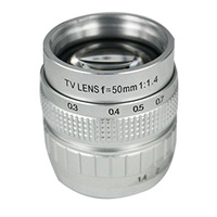 50mm Silver F1.4 CCTV TV Lens C Mount For GF3 GF2 GF1 G3 EP1 2 EPL1 2