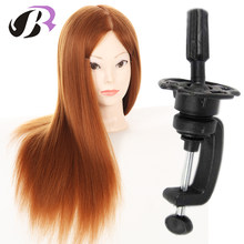 Free Shipping Female Wig Mannequin Head 65cm Professional Hairstyling Training Head Mannequin Manikin Head Dolls With Free Clamp(China)