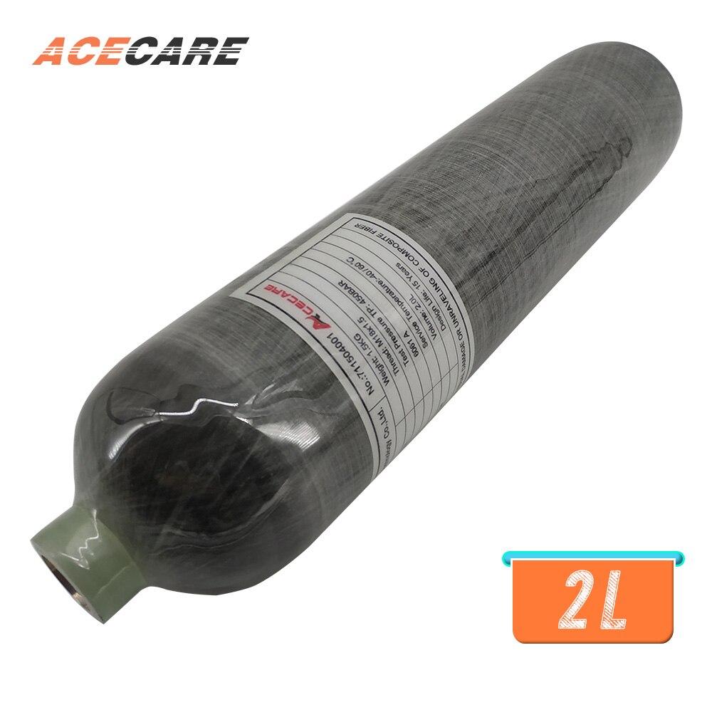 AC102 Fashion Pcp Air Rifle 2L 30Mpa 4500psi CE High Pressure Carbon Fiber Cylinder Pcp Air Gun Paintball Tank Acecare