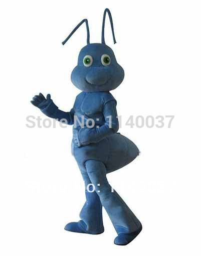 NO.1 MASCOT Deluxe Adult Size Blue Ant Mascot Costume Cartoon Character Ant Costume Party Carnival Costumes Fancy Dress