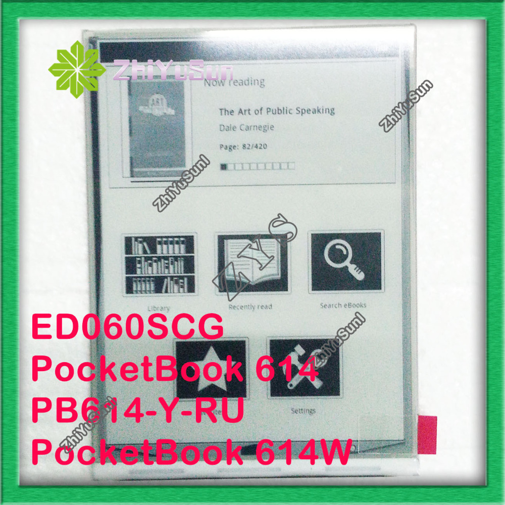 100% NEW Original ED060SCG 800*600 for PocketBook 614 PB614-Y-RU PocketBook 614W E-book reader lcd Display, Safety packing обложка pocketbook reader book 1 и reader book 2