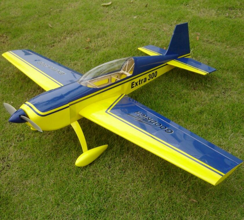 Haikong Extra 300 10e 37 2inch Electric Rc Wooden Model Airplane Yellow Blue A038s