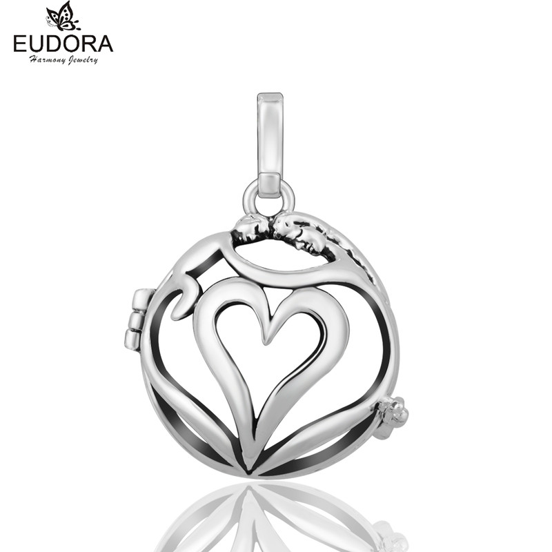 Love Each Other Copper Metal Harmony Bola Pregnancy Chime Locket Cage Pendant Aromatherapy Locket Jewelry Pregnant Women Gift
