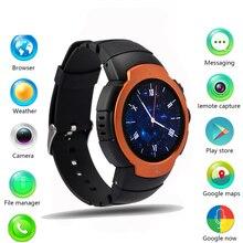 Auf Lager! original android 5.1 os mtk6580 smart watch 360×360 smartwatch unterstützung 3g sim wifi bluetooth herzfrequenz pk kw88 d5 x5