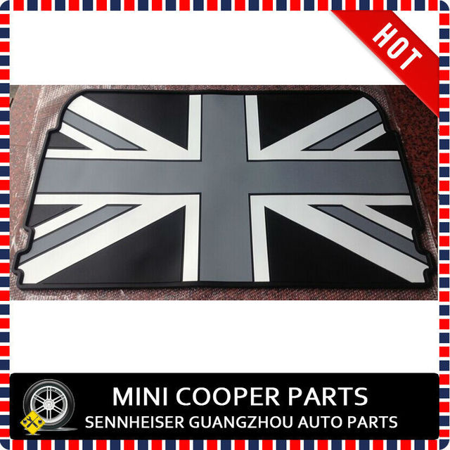 Brand New Rubber Material Black Union Jack Style Trunk Mat For 2014 Mini  Cooper F55 (